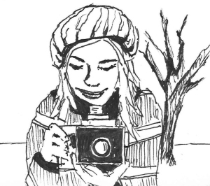 Zoe Tannenbaum mit Kamera